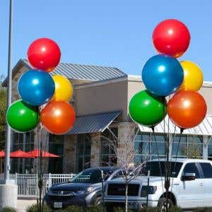 Reusable 5 Balloon Cluster - Multi Colors