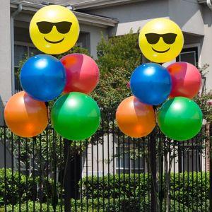 Reusable Emoji 5 Balloon Clusters