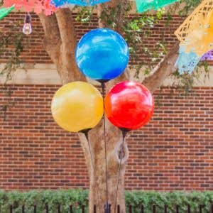Reusable 3 Balloon Cluster - Multi Colors