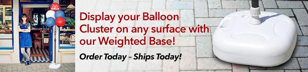 single balloons banner