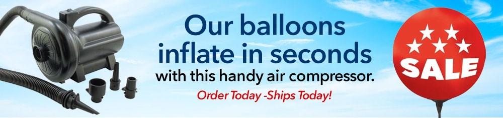 balloon cluster banner